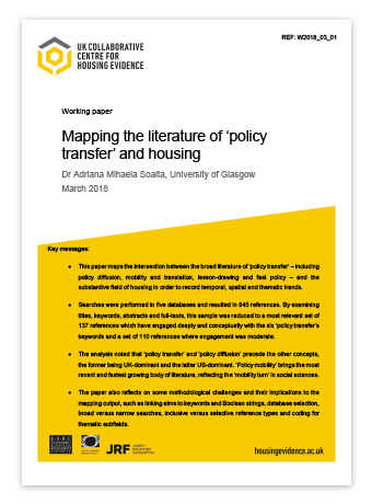 working paper - policy transfer and housing