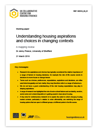 working paper thumbnail - housing choices and aspirations