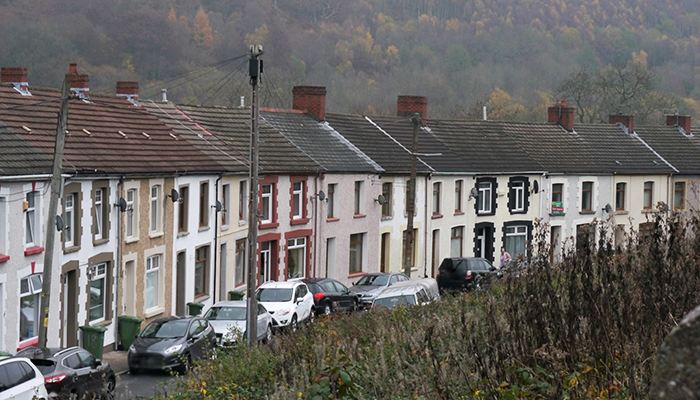 residential housing in Wales