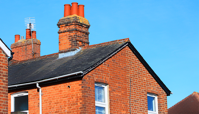 House rooftops